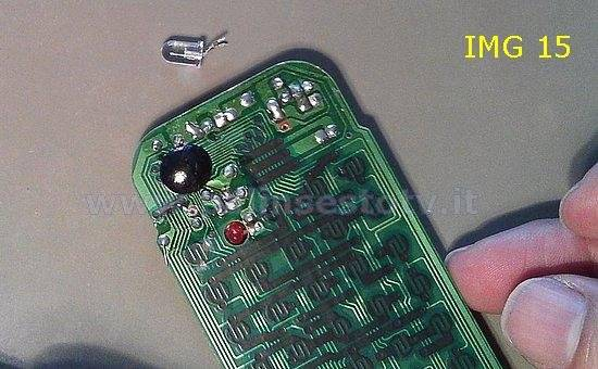 Desoldering diode infrared remote control