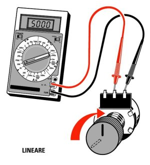Potenziometro lineare a grafite 1Kohm